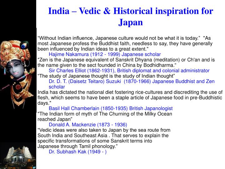 India – Vedic & Historical inspiration for Japan