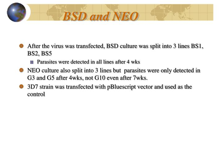 BSD and NEO