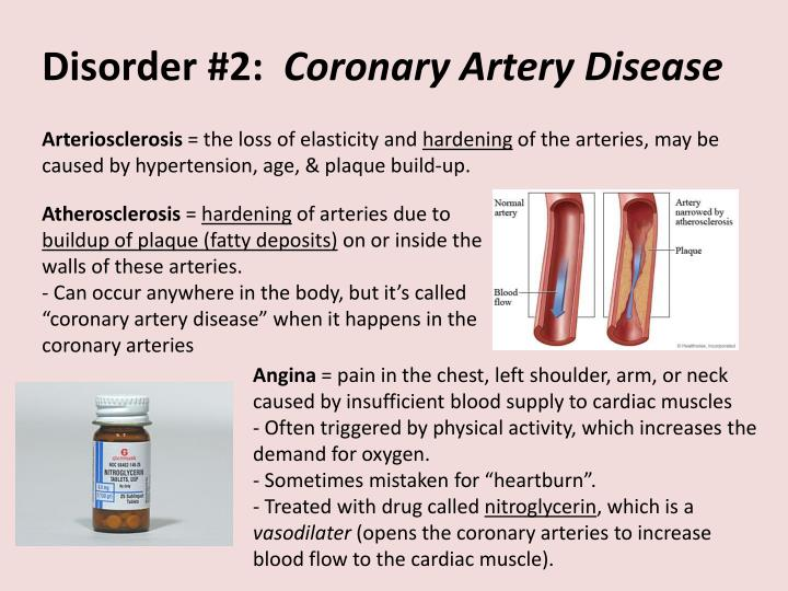 Disorder 2 coronary artery disease