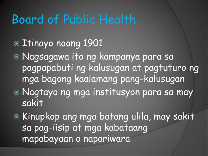 Board of Public Health
