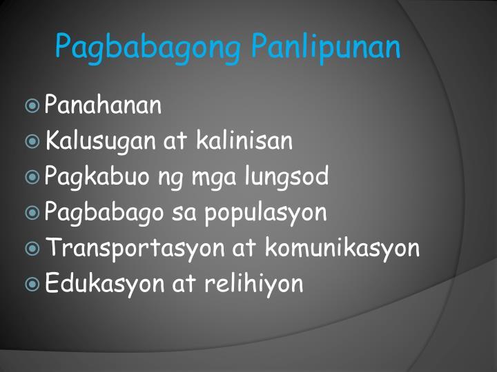 Pagbabagong