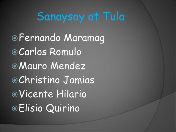 Sanaysay at Tula