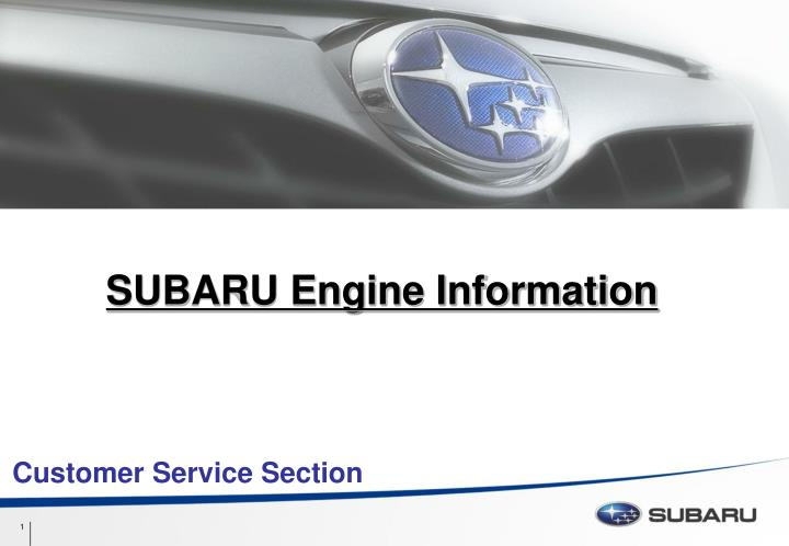 Subaru engine information