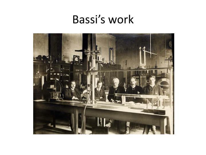 Bassi's