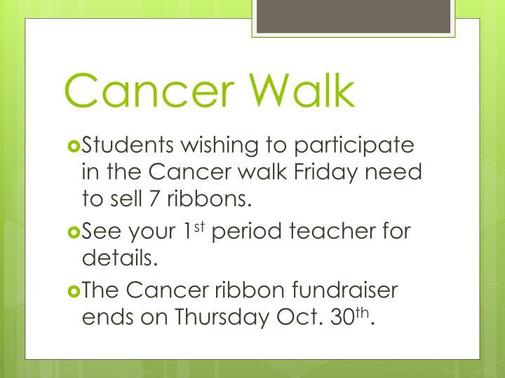 Cancer Walk
