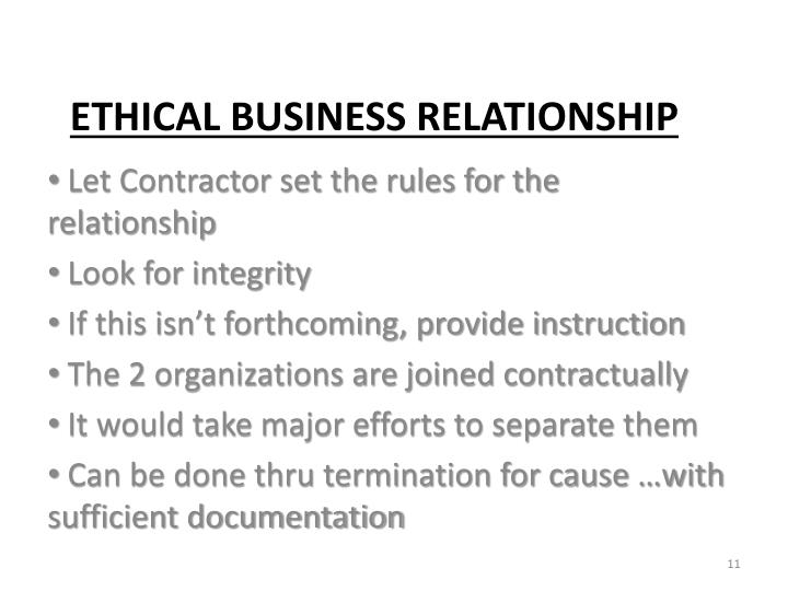 Let Contractor set the rules for the relationship
