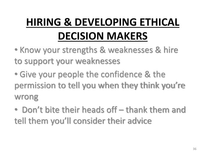 Know your strengths & weaknesses & hire to support your weaknesses