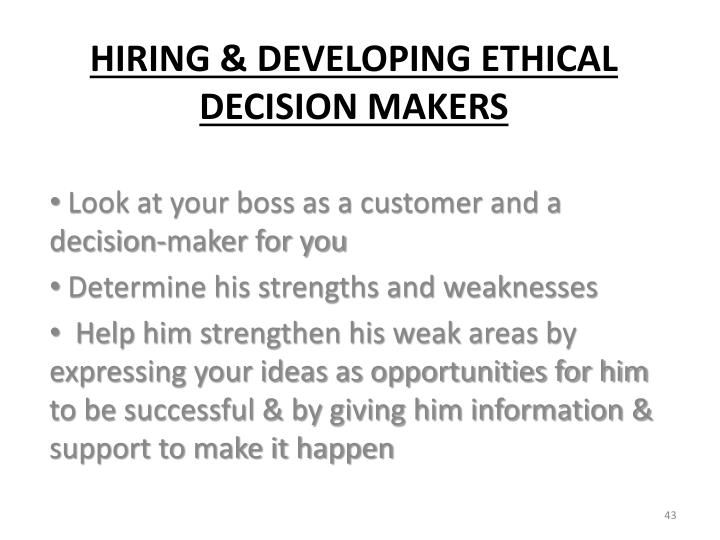 Look at your boss as a customer and a decision-maker for you