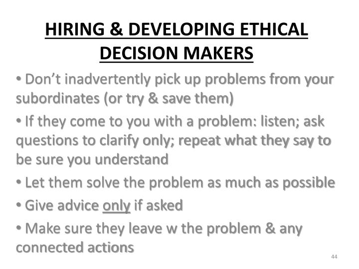 Don't inadvertently pick up problems from your subordinates (or try & save them)