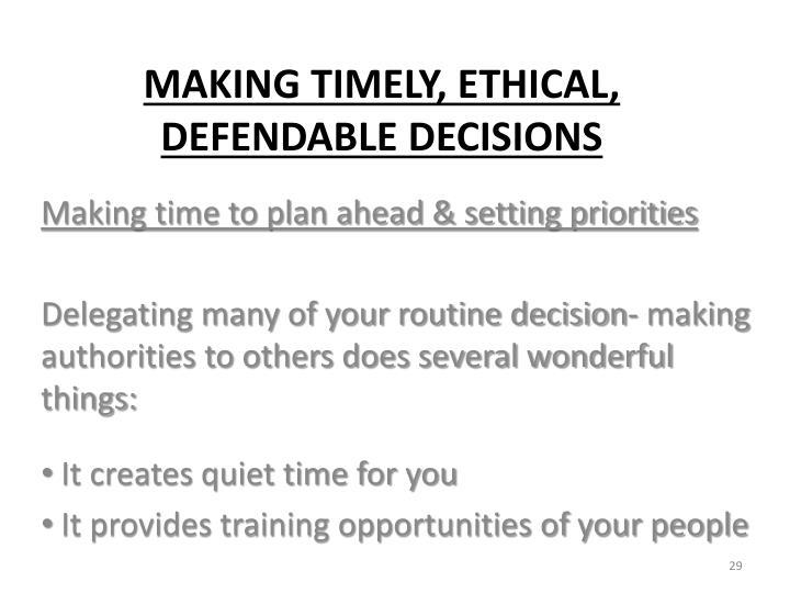 Making time to plan ahead & setting priorities