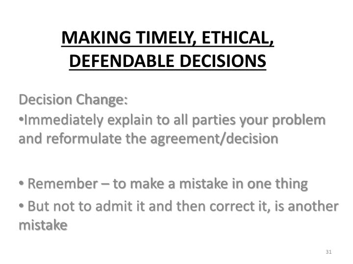 Decision Change: