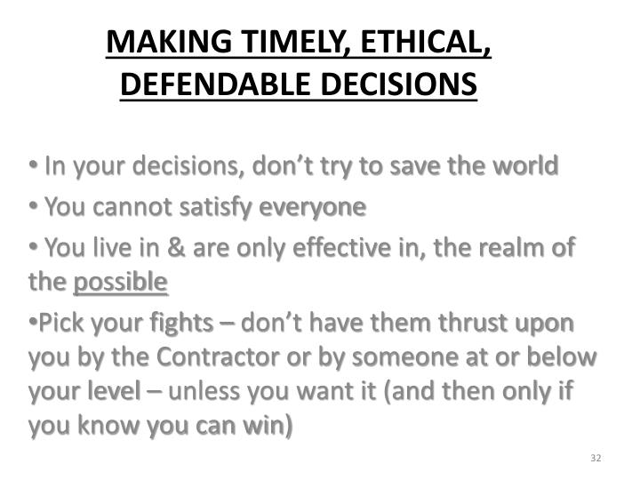 In your decisions, don't try to save the world
