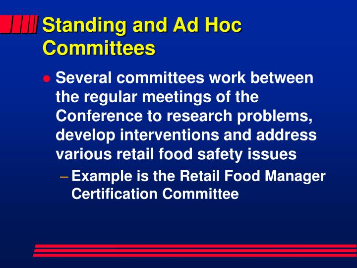 Standing and Ad Hoc Committees