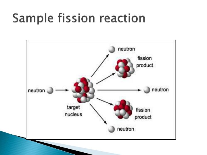 Sample fission reaction