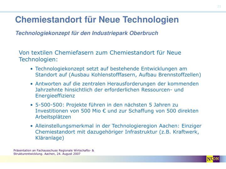 Chemiestandort für Neue Technologien