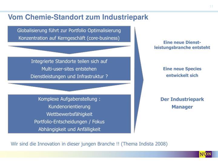 Vom Chemie-Standort zum Industriepark