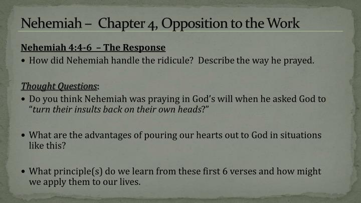 Nehemiah –  Chapter