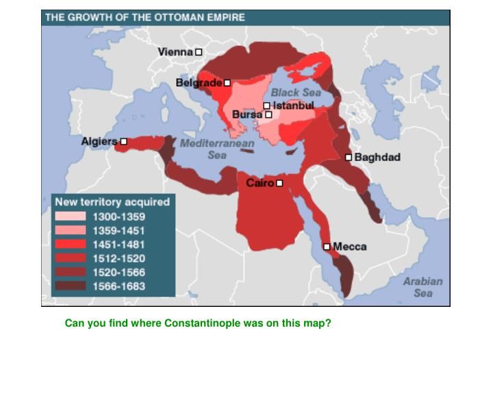 Can you find where Constantinople was on this map?