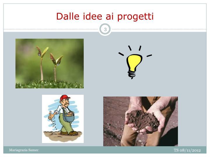 Dalle idee ai progetti