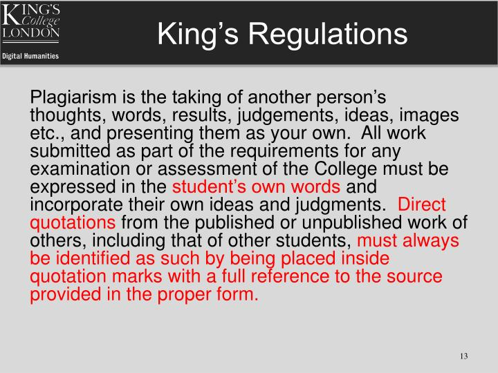 King's Regulations