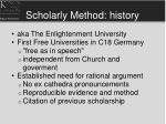 scholarly method history