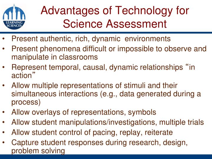 Advantages of Technology for Science