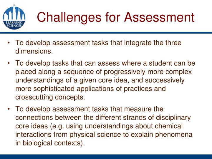 Challenges for Assessment