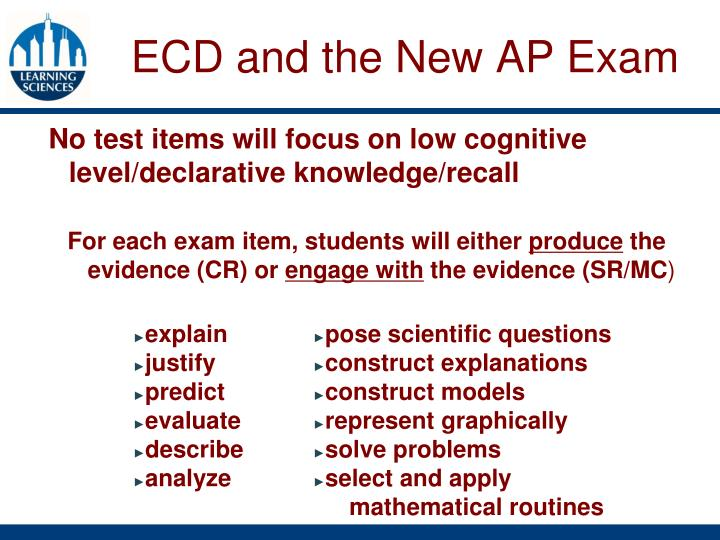 ECD and the New AP Exam