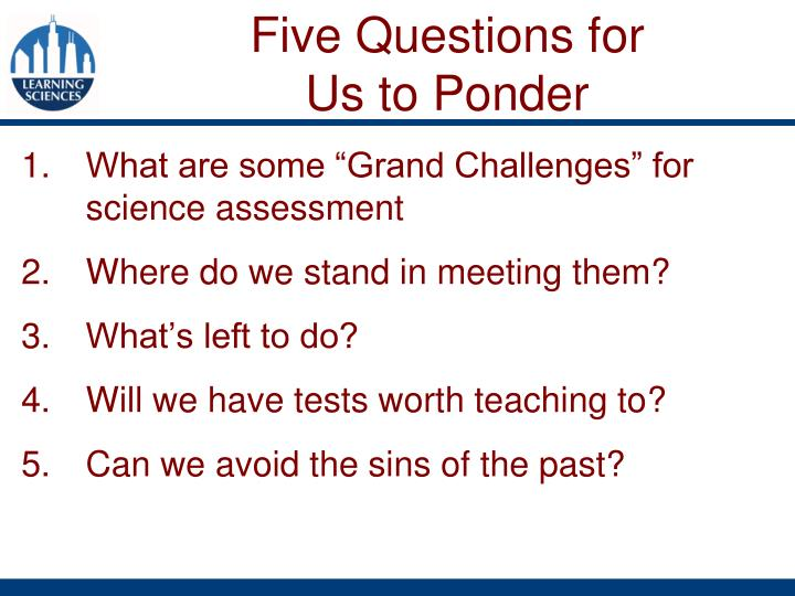 "What are some ""Grand Challenges"" for science assessment"