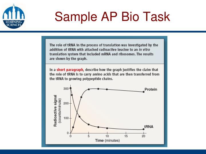 Sample AP Bio Task