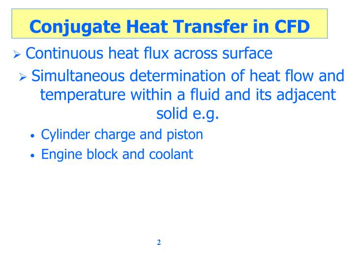 Conjugate heat transfer in cfd