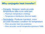 why conjugate heat transfer