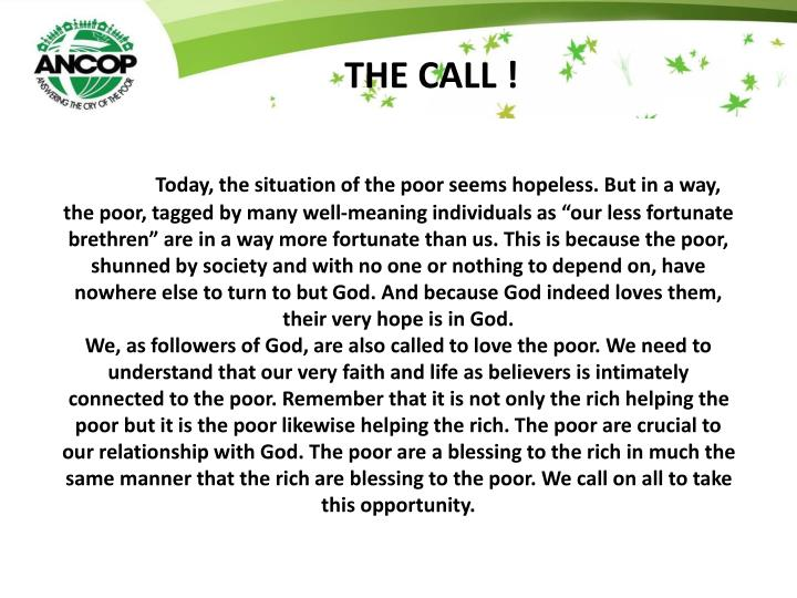 THE CALL !