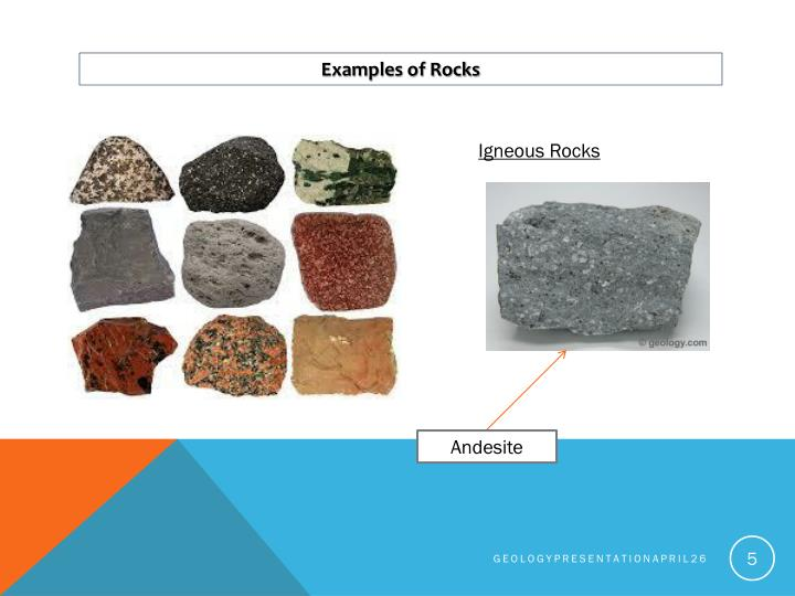 Examples of Rocks