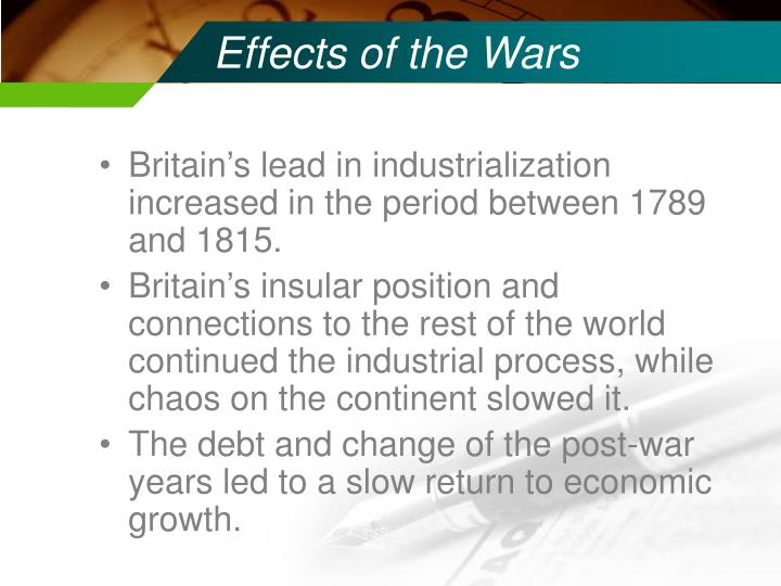 Effects of the Wars