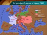 europe after congress of vienna 1815