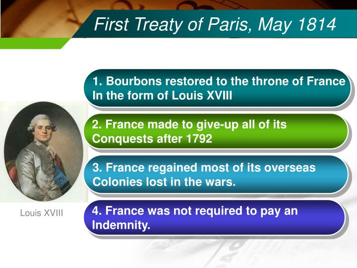 First treaty of paris may 1814