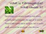 what is fibromyalgia what causes it