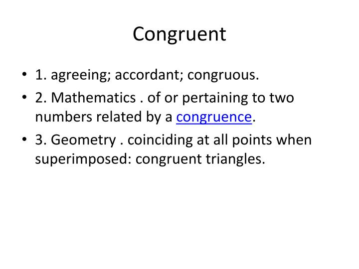 Congruent