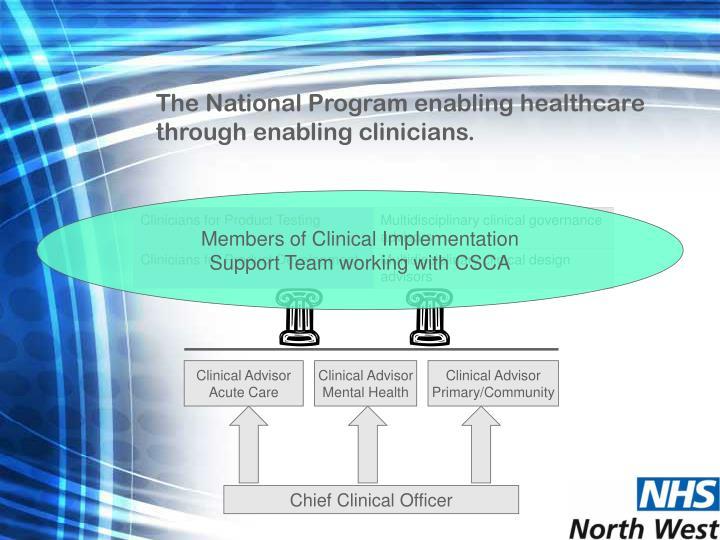 The National Program enabling healthcare