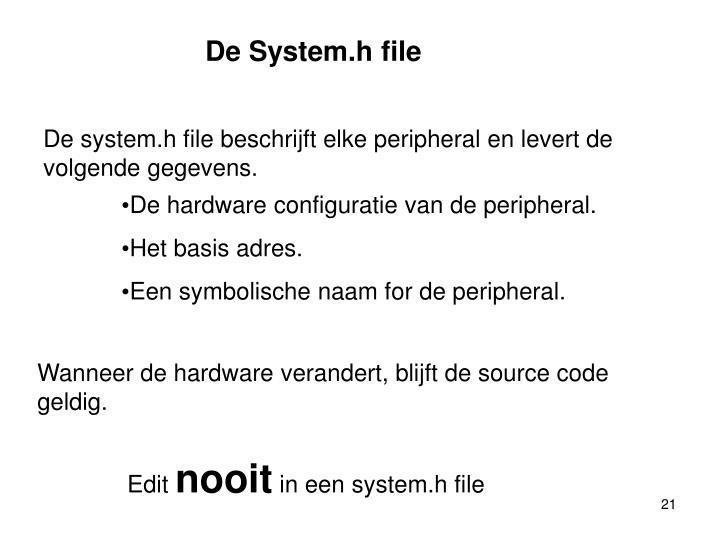 De System.h file