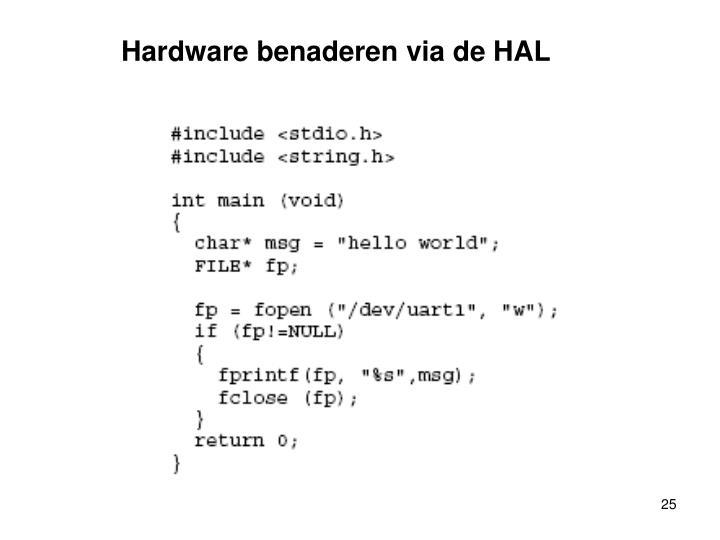 Hardware benaderen via de HAL