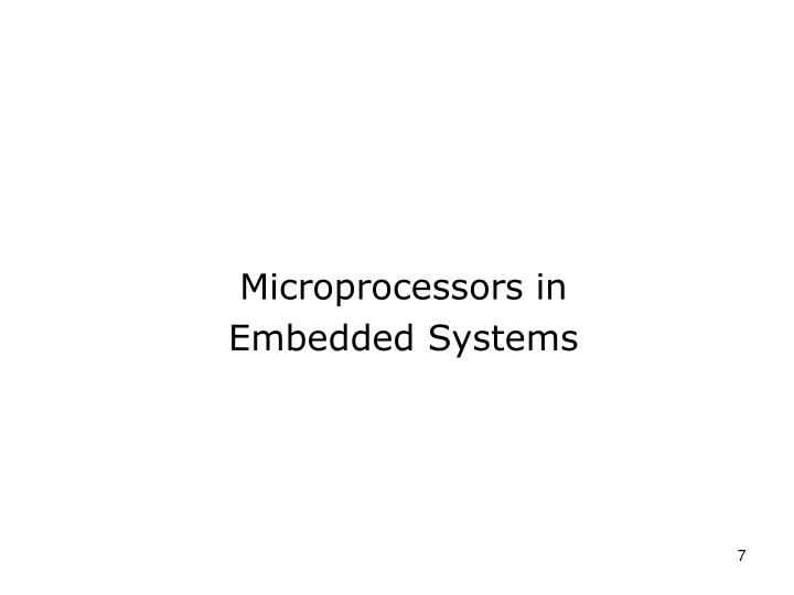 Microprocessors in