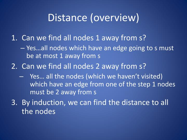 Distance (overview)