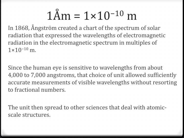 1Åm = 1×10