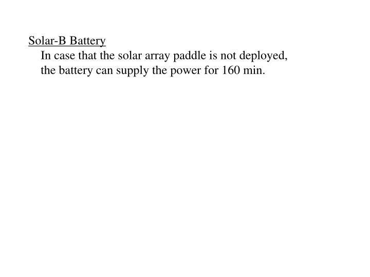 Solar-B Battery