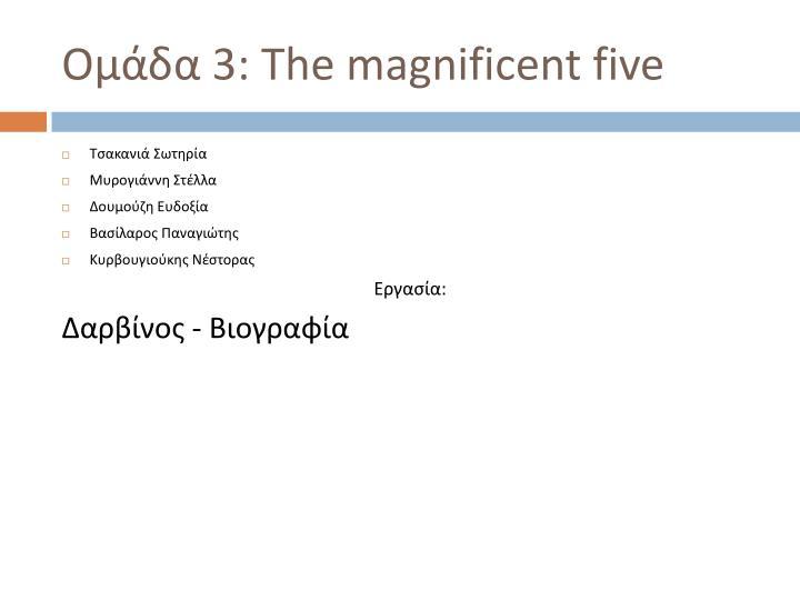 Ομάδα 3: