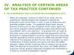 iv analysis of certain areas of tax practice continued6