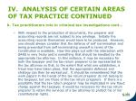 iv analysis of certain areas of tax practice continued7
