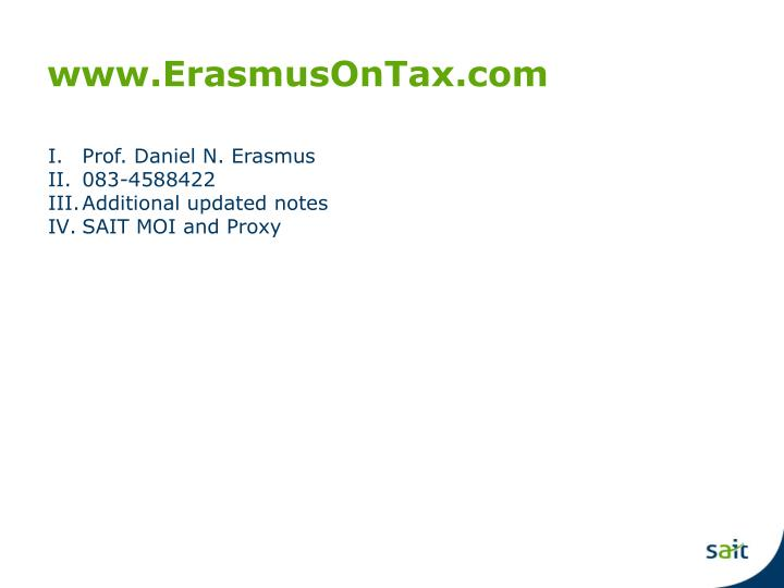 www.ErasmusOnTax.com